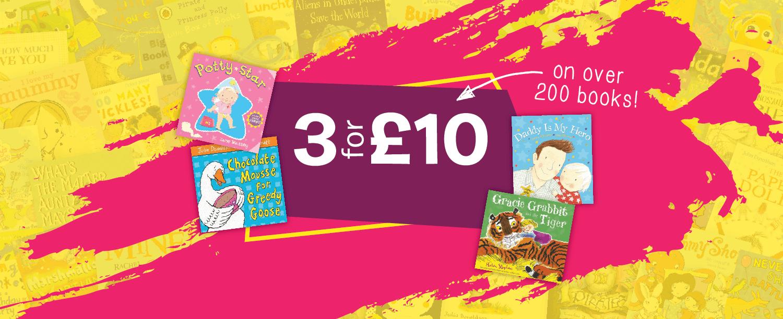 Children's books 3 for £10
