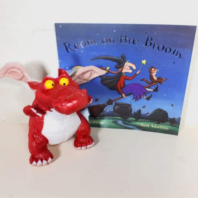 Room on the Broom dragon soft toy and book gift set