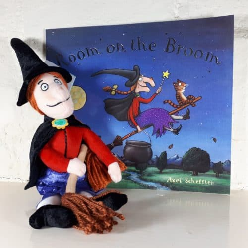 Room on the Broom witch soft toy and book gift set