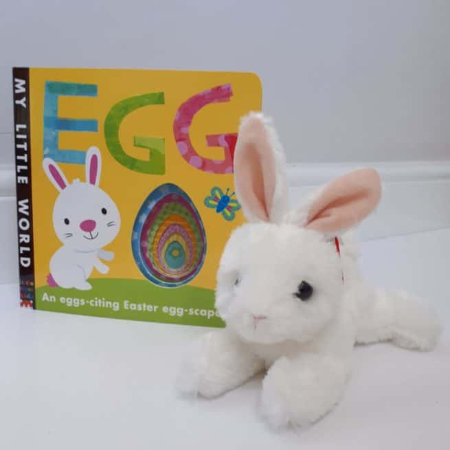 Easter bunny and book gift set