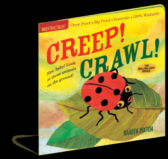 Creep Crawl Indestructibles baby book|Mary had a Little Lamb Indestructibles baby book