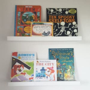 Ikea book ledge by The Ladybirds' Adventures