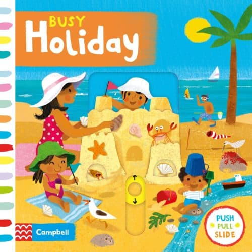 Busy Holiday interactive Push Pull Slide board book