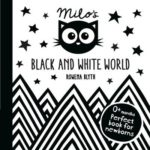 Milo's Black and White world baby book suitable for newborns