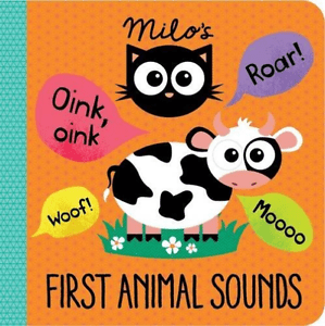 Milo's First Animal Sounds, an animal noises board book for babies and toddlers