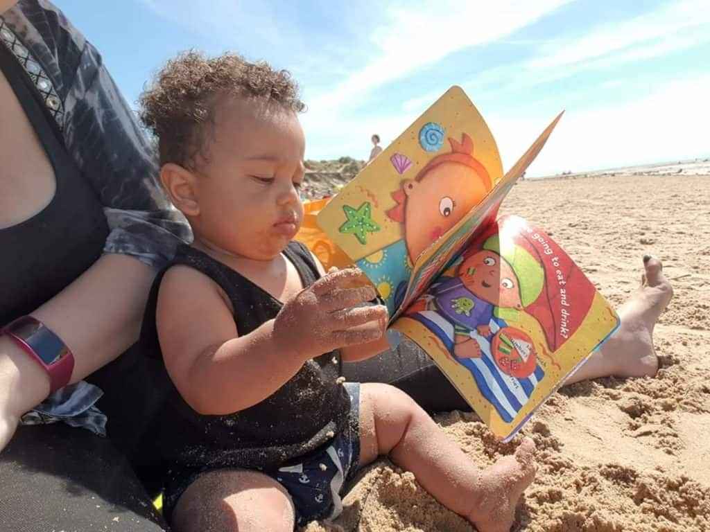 Beach Baby Indestructibles rip proof baby book in action