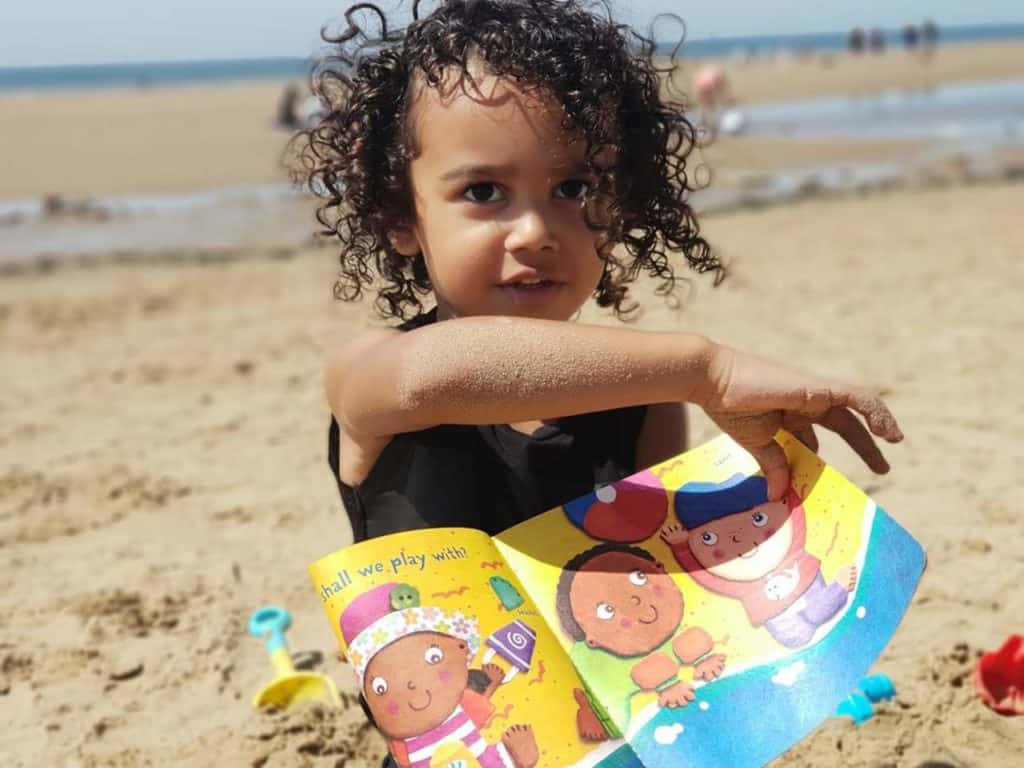 The best holiday book for babies - Beach Baby Indestructibles chew-proof book