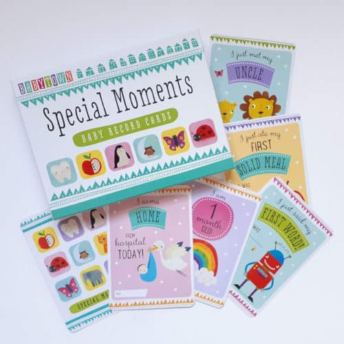 Special Moments Baby Milestone Cards