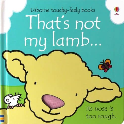 Usborne That's Not My Lamb touch and feel book for babies