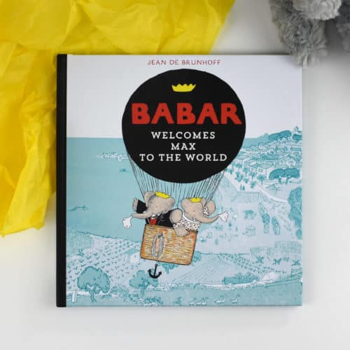 Babar personalised book cover with child's name