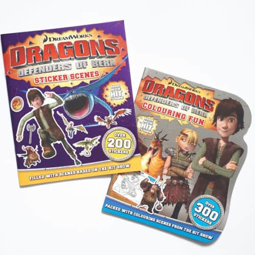 Dragons of Berk colouring and sticker books set