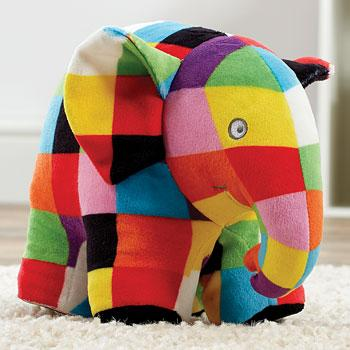 Elmer the elephant cuddly toy