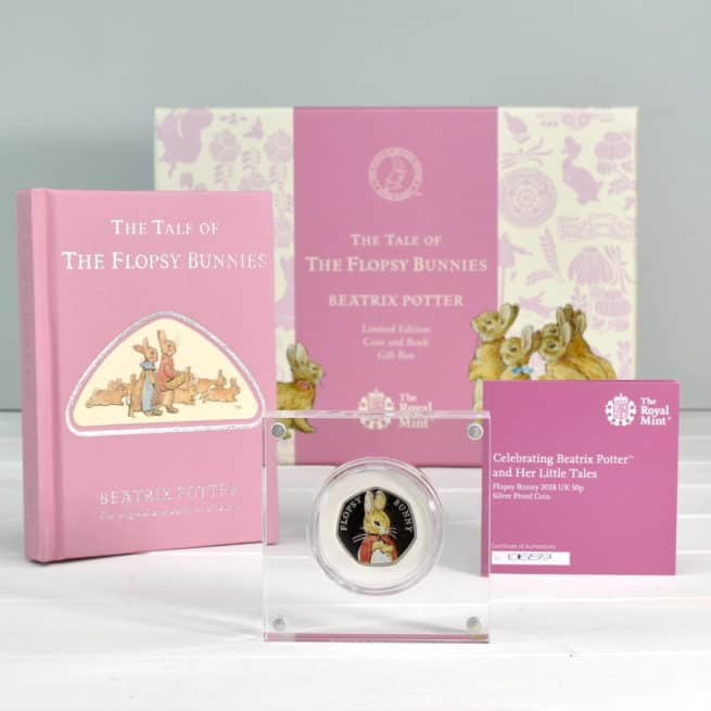 Flopsy Bunnies Royal Mint Box contents