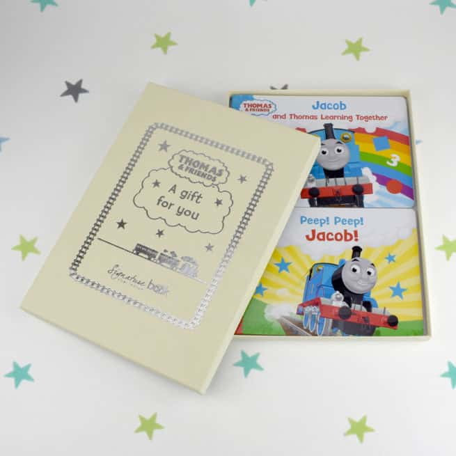 Thomas & Friends gift box with 2 personalised books