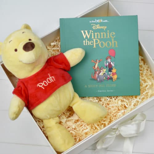 Winnie the Pooh perosnalised book and soft toy gift set