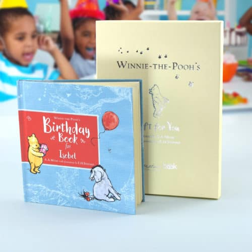 Winnie the Pooh personalised book with embossed box